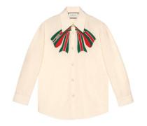 Hemd aus Popeline mit Gucci Streifen-Schleife