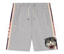 Shorts aus Baumwolle mit GucciStreifen