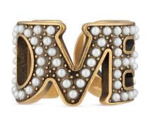 Loved Ring mit Perlen