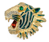 Tigerkopf-Brosche aus Metall