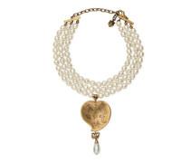 Perlenkette mit Herz-Anhänger