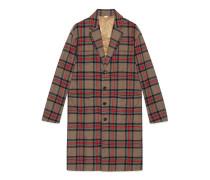 Mantel aus karierter Wolle