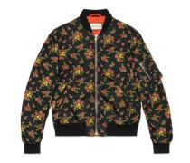 Jacke aus Nylon mit Blumenstrauß-Print