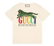 Übergroßer T-Shirt mit GucciCities und Tiger
