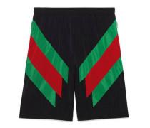 Shorts aus Nylon mit Web-Intarsie