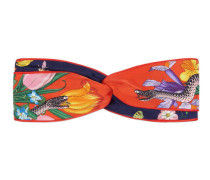 Kopfband mit Flora-Schlangen-Print