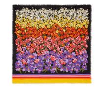 Halstuch aus Wolle mit abgestuftem Blumen-Print