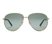 Sonnenbrille aus Metall in Pilotenform mit Web