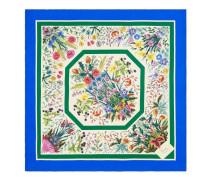 Tuch aus Seide mit Blumen-Print