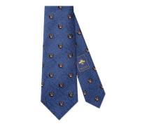 Krawatte aus Seide und Wolle mit Panthern
