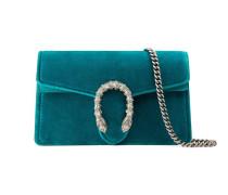 Dionysus Super-Mini-Tasche aus Veloursleder