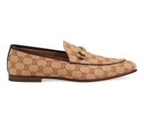 Gucci Jordaan Herrenloafer aus GGCanvas