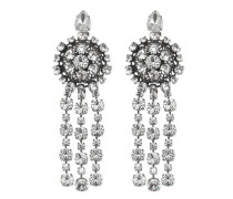 Ohrringe aus Metall mit Tropfen-Kristallen