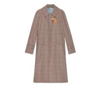 Mantel aus Wolle mit Puma-Patch
