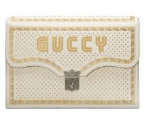Aktentasche mit Guccy-Print