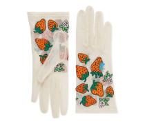 Handschuhe aus Tüll mit Gucci Strawberry