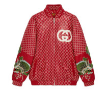 Gucci-Dapper Dan Bomberjacke aus Leder mit GG