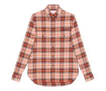 Hemd aus karierter Baumwolle mit Paramount-Patch