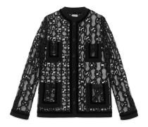 Jacke aus GG Leder-Makramee