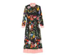 Kleid aus Seide mit Blumen- und Schlangen-Print