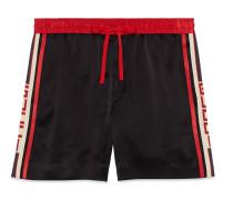 Shorts aus Acetat mit Gucci Streifen