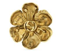 Ring aus Metall mit Blumen-Detail