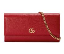 GG Marmont Brieftasche aus Leder mit Kette