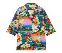 Hemd aus Seide mit Hawaii-Print