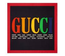 Halstuch aus Seide mit Gucci Cities-Print