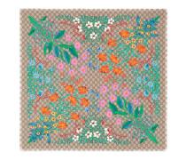 Schal aus Seide mit GG und Flora-Print