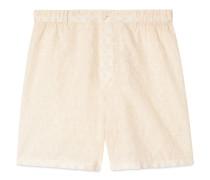 Shorts aus Baumwolle mit GG Stickerei