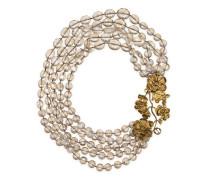 Perlenbesetzte Halskette mit Blumen-Details