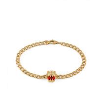 Armband 18 Karat mit Löwenkopf und Feueropal