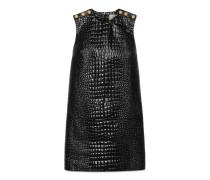 Kleid aus Leder mit Krokodil-Print