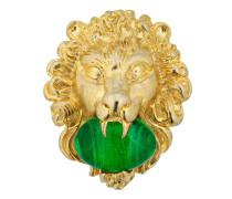 Löwenkopf-Ring mit Cabochonstein