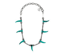 Halskette mit türkisfarbenem Horn