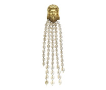 Herkules-Brosche mit perlenbesetzten Ketten