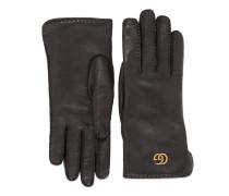 Doppel G Handschuhe aus Leder