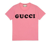 T-Shirt aus Baumwolle mit Gucci