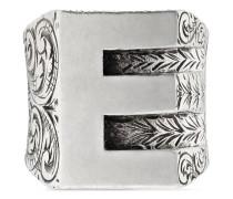 """Buchstabe-""""E""""-Ring aus Silber"""