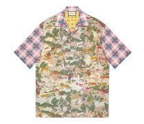 Bowling-Shirt aus Baumwolle mit Print