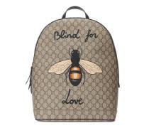 Rucksack aus GG Supreme mit Bienen-Print