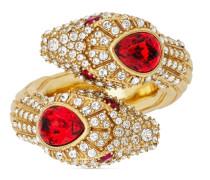 Schlangen-Ring mit Kristallen