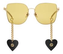 Exklusiv online* Speziell geformte Sonnenbrille mit Anhänger