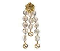 Perlenbesetzte Ohrringe mit Blumen-Detail