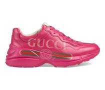 Rhyton Sneaker aus Leder mit Gucci Logo
