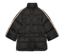 Cape-Jacke aus Nylon mit GucciStreifen