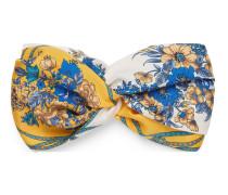 Stirnband aus Seide mit Blumen und Quasten