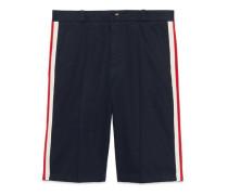 Shorts aus Baumwolle mit Web
