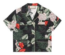 Hemd aus Seide mit hawaiianischem Print